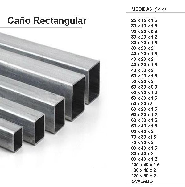 Hierros lavallol for Tubos de hierro rectangulares